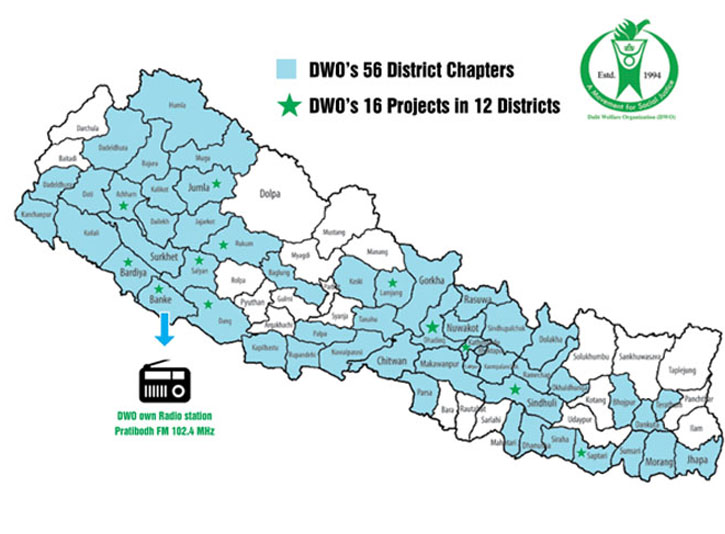 Dalit Welfare Organization's projects (2008) to eliminate caste discrimination and untouchability in Nepal and protect the human rights of the disadvantaged Dalit minority - particularly children, women and the poor
